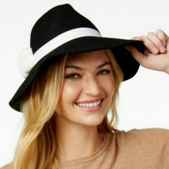 03aea71149883 Nine West Women s Felt hat with pom-poms.